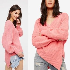 NWT Free People West Coast Pullover Rose Pink M